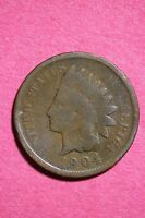 1904 INDIAN HEAD CENT PENNY NICE DETAILS FLAT RATE SHIPPING COIN 0037