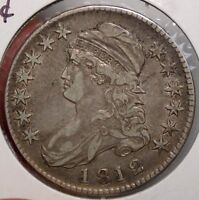 1812 BUST HALF DOLLAR ALMOST UNCIRCULATED CHOICE ORIGINAL EARLY TYPE  0321 21