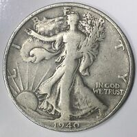 1940-S WALKING LIBERTY HALF DOLLAR - 50C - US 90 SILVER COIN 02