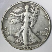 1940-S WALKING LIBERTY HALF DOLLAR - 50C - US 90 SILVER COIN 03