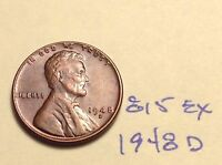 1948 D 1C RB LINCOLN CENT 815EX
