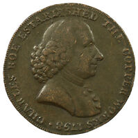 TOKEN MACCLESFIELD HALFPENNY CHARLES ROE CHESHIRE 1791