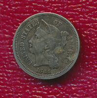 1881 THREE CENT NICKEL   CIRCULATED