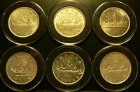 --  6 CANADIAN 80 SILVER DOLLARS - BETTER DATES - GREAT CONDITION - CANADA