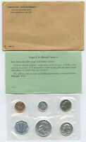 1960 US PROOF SET IN ORIGINAL CELLOPHANE AND ENVELOPE ALL PACKING AS SHOWN