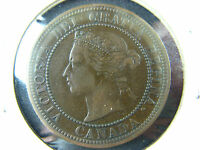 1 CENT 1876H CANADA LARGE ONE PENNY COIN QUEEN VICTORIA 1C 1 VF 20