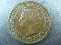 1 CENT 1897 CANADA LARGE ONE PENNY COIN QUEEN VICTORIA 1C 1 VF 25