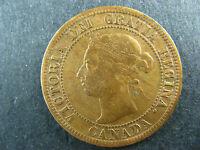 1 CENT 1891 SD SD OBV. 3 CANADA ONE LARGE PENNY COIN QUEEN VICTORIA 1C 1 VG 10
