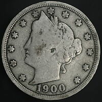 1900 LIBERTY V NICKEL AFFORDABLE ANTIQUE COLLECTOR COIN W/  8367