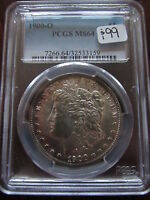 1900 O MORGAN SILVER DOLLAR PCGS MS64 NEW ORLEANS MINT RIM TONING COLOR $1 COIN