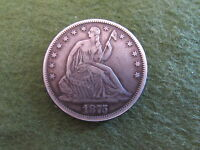 1875 LIBERTY SEATED SILVER HALF DOLLAR PHILADELPHIA MINT 50C COIN