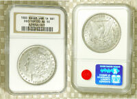 1880 MORGAN DOLLAR TOP 100 VAM 1A KNOBBED 8 NGC AU 50 FREE S&H