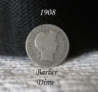 1908 BARBER DIME MULTIPLE WINNERS WAIT FOR INVOICE FOR COMBINED SHIPPING