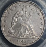 1842 P 50C SMALL DATE REV OF 1842 LIBERTY SEATED HALF DOLLAR PCGS XF40 H15493