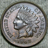 1908 INDIAN CENT PENNY       STUNNING      Z775
