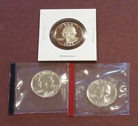 1992 P D & S WASHINGTON QUARTERS   UNCIRCULATED & PROOF