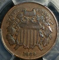 1864 2C TWO CENT PIECE PCGS F15 H2877