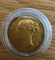 1880 FULL GOLD SOVEREIGN COIN YOUNG VICTORIA HEAD,ST GEORGE BACK,V/F CONDITION