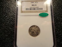 1880 3CN 3 CENT NICKEL NGC MS 65 WITH