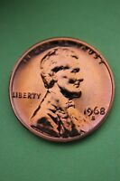 1968 S PROOF LINCOLN MEMORIAL CENT PENNY EXACT COIN SHOWN FLAT RATE SHIPPING 08