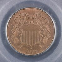 1869 TWO CENT PIECE PCGS MINT STATE 64 BN