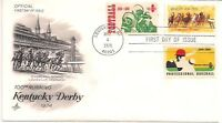 PAPA'S STAMPS 1974 100TH RUNNING KENTUCKY DERBY FDC UNADDRESSED 3 STAMPS