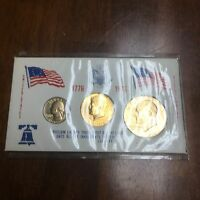 UNITED STATES BICENTENNIAL 24K GOLD PLATE COINS 1776 1976