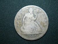 1856 SEATED LIBERTY HALF
