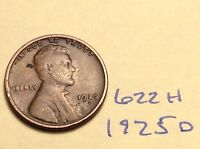 1925-D 1C BN LINCOLN CENT 622H