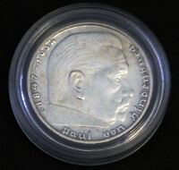 WW2  2 REICHSMARK GERMAN SILVER COIN 1939 D
