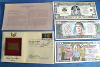1991 GOLD PLATED STAMP SPACE EXPLORATION MERCURY FIRST DAY COVER  BONUS