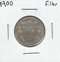 CANADA 1900 SILVER 25 CENTS FILLER LOT4