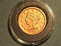 HIGH GRADE 1848 LIBERTY HEAD LARGE CENT  U.S. COIN IN AIRTITE HOLDER