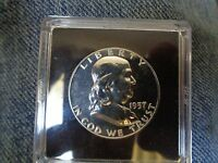 1957 FRANKLIN HALF DOLLAR PROOF 63 SHOP GRADED