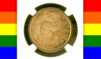 1869 PR62 CAC JUST 16,000 MINTED PLUS ONLY 600 PROOFS  PQ SEATED QUARTER 25C
