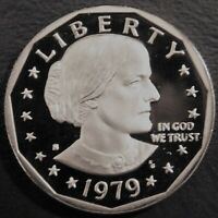 1979 S DEEP CAMEO GEM PROOF  SUSAN B ANTHONY  US ONE DOLLAR  TYPE1