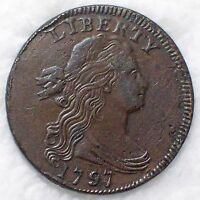 1797 LARGE CENT -STRONG AU DETAILING  GRIPPED EDGE S-120 B VARIETY AUTHENTIC