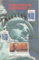 US & FRANCE STATUE OF LIBERTY COMBO FDC ON PHILATELIC CATALOG - DUAL CANCELS