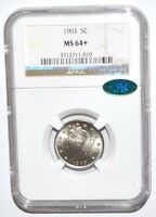 1903 LIBERTY NICKEL - NGC - MINT STATE 64 - CAC STICKER
