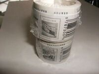 NEW USPS POSTAGE FOREVER STAMPS 2 ROLLS OF 100 = FACE VALUE  - $98.00