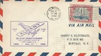 WRIGHT BROTHERS FLIGHT 25TH ANNIV COVER - FAM 1/CAM20 - ALBANY NY 12/17/1928