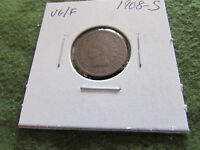1908 S INDIAN HEAD CENT BROWN BN COPPER PENNY SNOW SAN FRANCISCO MINT 1 CENT