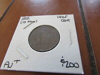 1828 HALF CENT 13 STARS 1/2 PENNY CHOCOLATE BROWN NEWCOMB COHEN EAC EARLY COPPER