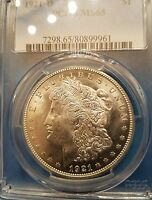 1921 D MORGAN SILVER DOLLAR PCGS CERTIFIED MS65