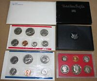 1981 OFFICIAL US PROOF SET AND MINT SET LOT OF 2 SETS