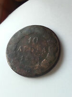 GREECE 10 LEPTA 1843 OTTO OTHON  PIECE
