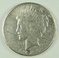 1925-S $1 PEACE SILVER DOLLAR - VF DETAILS CLEANED         170325