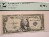 FR 1616 $1 STAR NOTE NO MOTTO  PCGS 63 PPQ