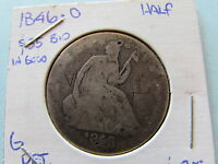 1846 O SEATED LIBERTY SILVER HALF DOLLAR NEW ORLEANS MINT 50 CENT COIN