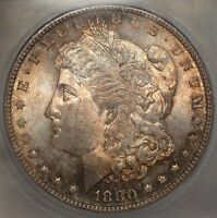 1880 S MORGAN DOLLAR CHOICE UNCIRCULATED ORIGINAL ATTRACTIVE TONING